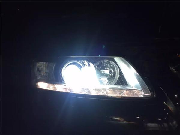 哈尔滨改灯 老A6升级HW海拉5加汉雷灯泡