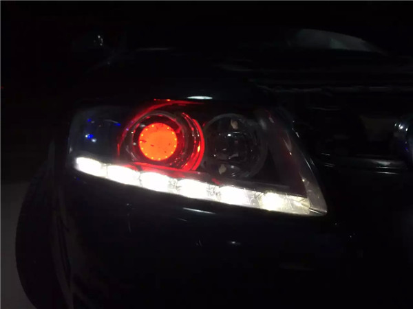 运城改灯 老A6原车海拉2太暗,还升级海拉5效果