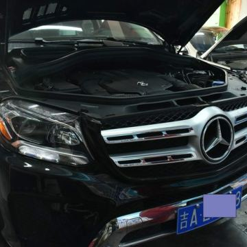 长春改灯新提奔驰GLS450升级进口海拉五双光透镜欧司朗套装