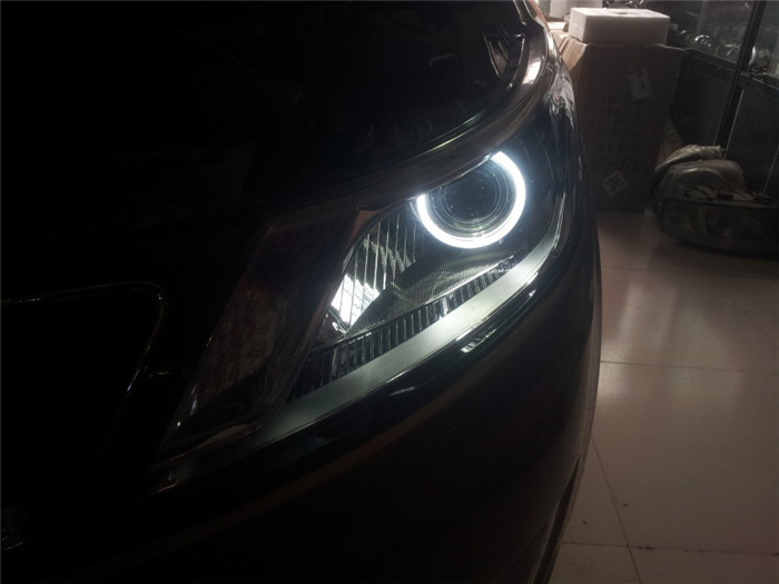 韶关改灯 起亚k2汽车灯光改装升级下一