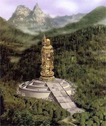 江苏山气势宏伟的风景