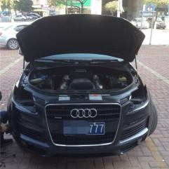 奥迪Q7升级德国海拉五双光透镜-奥迪Q7大灯不够亮-Q7改灯