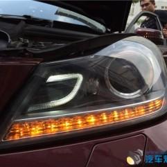 奔驰C180升级原装氙气大灯总成-C180升级氙气大灯