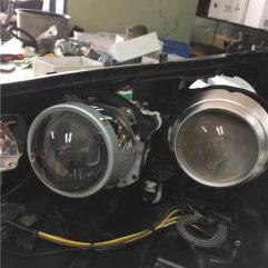 东莞亮点改灯-奔驰S350改四透镜