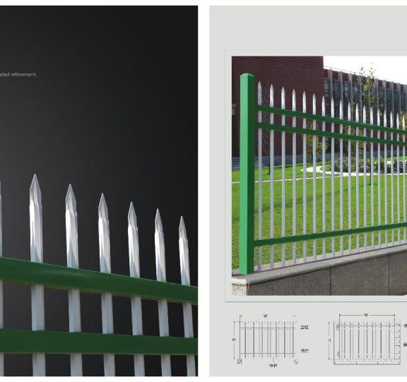 锌钢围栏展示四