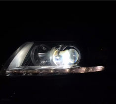 老A6升级HW海拉5加汉雷灯泡