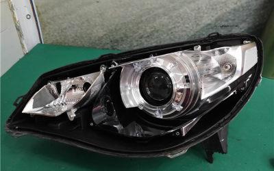 MG GT车灯升级GTR双光透镜+天使眼+恶魔眼