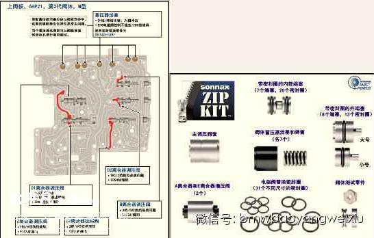 宝马6hp系列自动变速箱的阀体维修详解