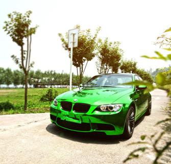 宝马M3车身改色贴膜电镀绿