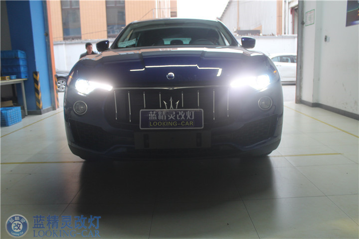玛莎拉蒂LevanteLED车灯升级 上海改装氙气大灯 黄冈蓝精灵汽车灯光升级
