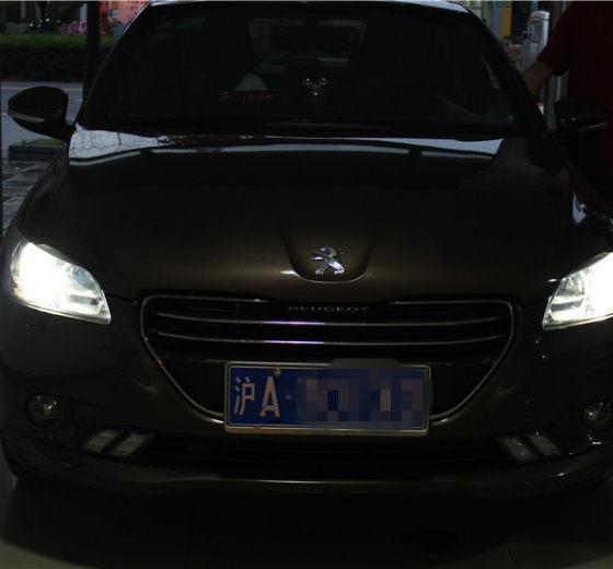 南京改灯 标致301升级超级Q5双光透镜 太完美了