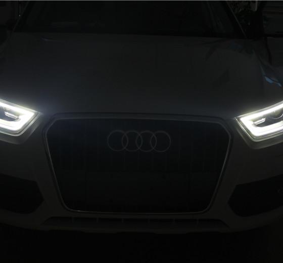 全新奥迪Q3升级改配大灯LED日行灯 美女系列
