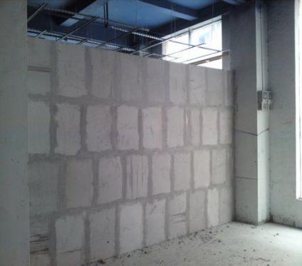 轻质砖厂家合作客户的施工现场