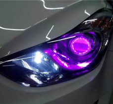 现代朗动车灯升级
