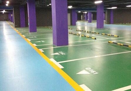 重庆某地下室车库地坪施工的效果