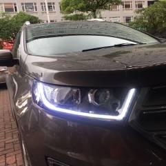 福特锐界原车卤素灯,升级高配内胆套件+LED双色流光转向+GTR海拉五+进口飞利浦套装
