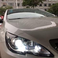 东莞厚街改灯,标致408卤素灯碗升级GTR海拉五+进口欧司朗灯泡+进口欧司朗安定器+恶魔眼
