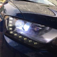 东莞哪里改灯好,南城亮点改灯,哈弗H6升级GTR海拉五+进口欧司朗套装+蓝色恶魔眼