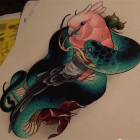 纹身彩色刺青素材