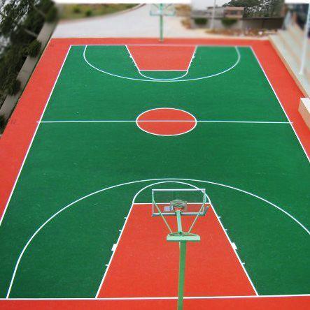 余姚一篮球场的地坪效果