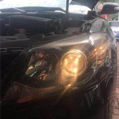 东莞凯美瑞改灯,升级GTR海拉五+进口松下安定+进口飞利浦灯泡