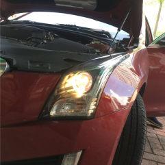 专业凯迪拉克ATS改灯东莞亮点改灯,升级GTR海拉五+进口飞利浦安定+进口飞利浦灯泡+专用日行灯套件