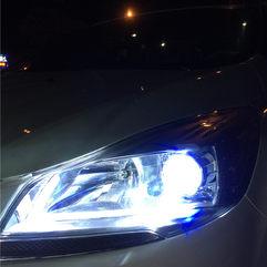 东莞专业改灯,福特翼虎升级GTR海拉五+汉雷氙气套装+蓝色恶魔眼