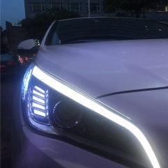 现代索纳塔9升级GTR海拉五+进口飞利浦安定器+进口欧司朗灯泡+日行灯套件
