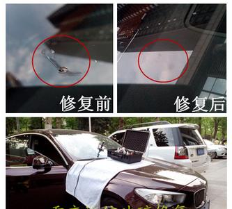 珠海汽车挡风玻璃修复案例七