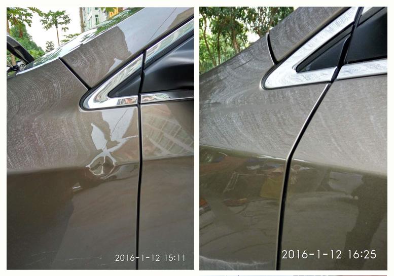 珠海汽车凹坑修复案例一