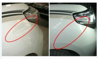 珠海汽车凹坑修复案例五