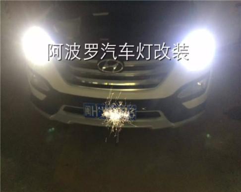 新胜达IX35汽车大灯改装升级