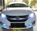 (黄冈改灯)本田锋范新车升级双光透镜进口欧司朗CBI氙气灯LED天使眼日行灯黄石蓝精灵改灯