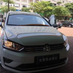 东莞东城改灯,大众嘉旅升级GTR海拉五+进口欧司朗安定+进口欧司朗CBI灯泡+U型日行灯套件