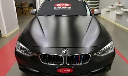 宝马320i陶瓷黑汽车改色案例欣赏