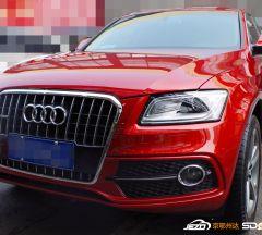 红色奥迪Q5盛德奇嘉白金镀晶汽车美容施工案例