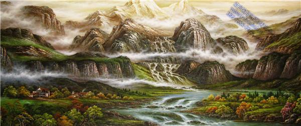 经典风景 (55)_油画_南昌绘声绘语墙绘_赣州手绘墙_3d