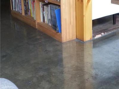 成都某书店地面施工效果