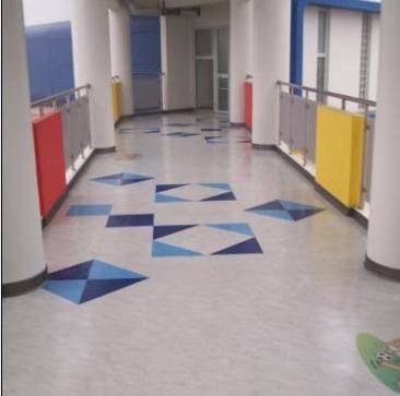 幼儿园过道地坪施工案例效果