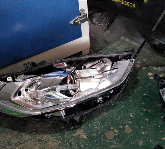 吉安17款新蒙迪欧大灯升级海拉5双光透镜