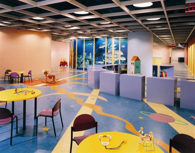 幼儿园的地面施工效果