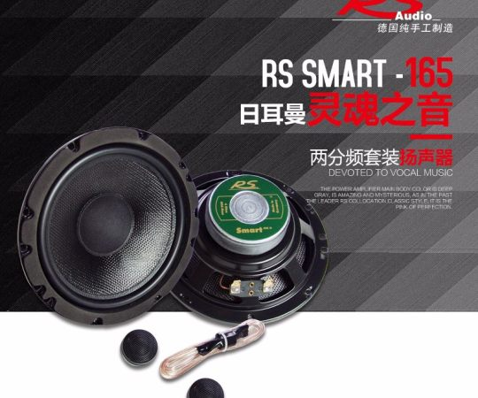 德国RS汽车音响 samrt 165-2 发现两分频扬声器 6.5寸汽车音响喇叭