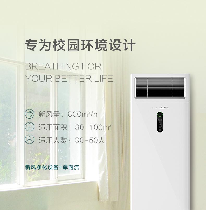 新风净化设备立柜式单向流除醛除霾净化空气