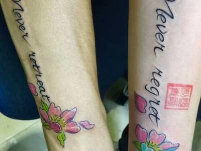 郑州情侣小图纹身图案,郑州纹身多少钱