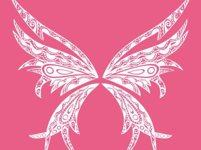 可爱女生蝴蝶翅膀图案,郑州国师纹身店最靠谱