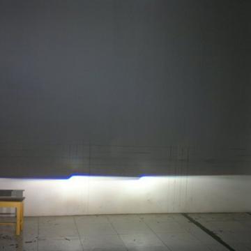 检测车灯照明效果 只需一堵墙