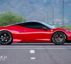 膜呗极光红法拉利458 Italia一抹红色闪电