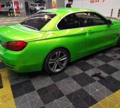 属于你的驾驶乐趣宝马膜呗车身改色幻彩金绿完工
