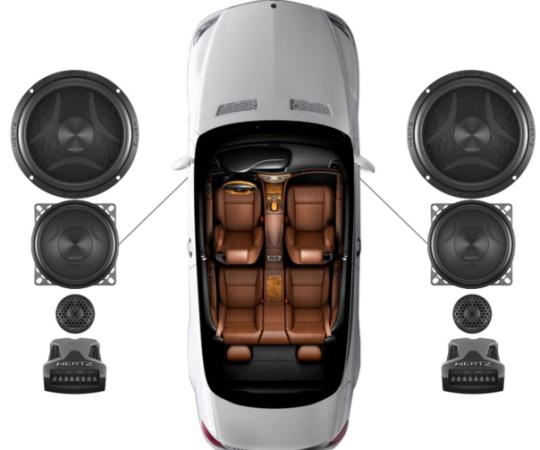 意大利赫兹ESK163三分频套装宝马及通用车型汽车音响升级