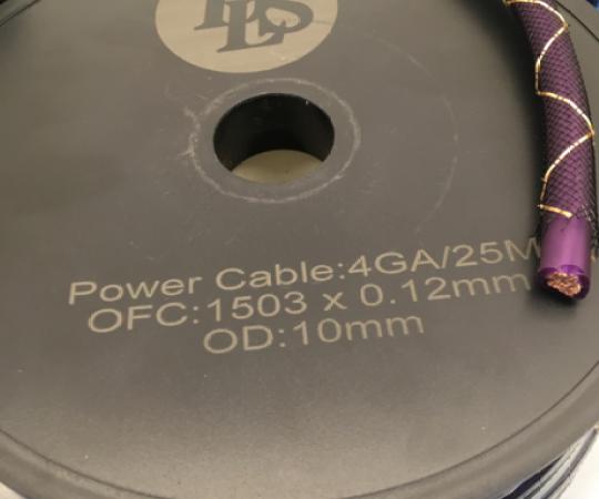 瑞典DLS德利仕4号电源线发烧汽车音响线材1米